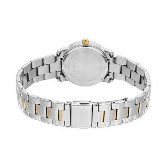 Citizen EU6038-89A Womens Two-Tone Steel Bracelet with Analog White Dial Watch Image 1