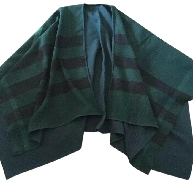 Preload https://img-static.tradesy.com/item/25819216/burberry-dark-racing-green-charlotte-solid-to-check-wool-ponchocape-size-os-one-size-0-1-650-650.jpg