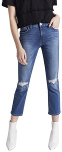 Current/Elliott Straight Leg Jeans-Distressed