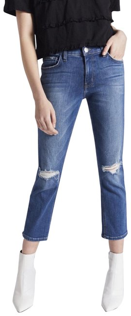 Preload https://img-static.tradesy.com/item/25819260/currentelliott-blue-distressed-the-high-waist-straight-leg-jeans-size-0-xs-25-0-1-650-650.jpg