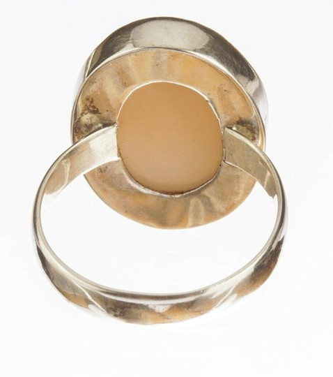 sterling silver Peach Moonstone Cabochon Ring Image 2