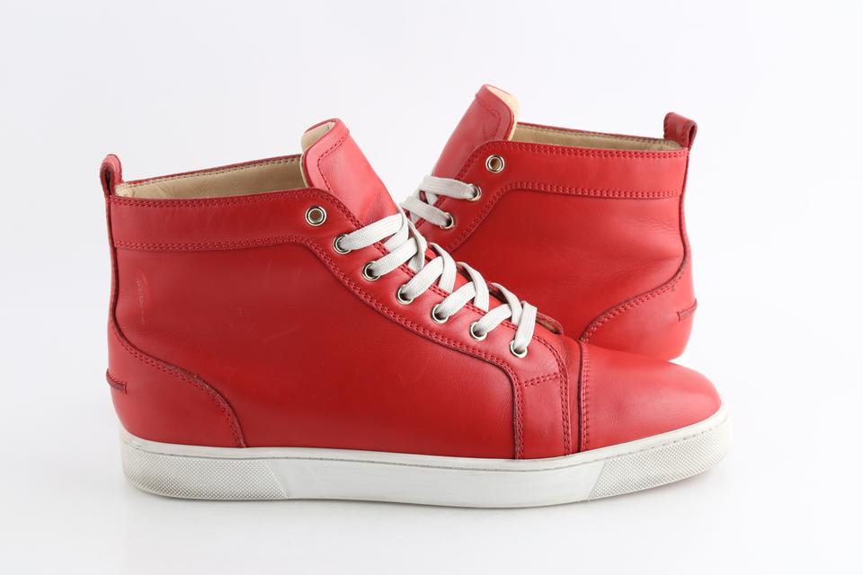 huge discount 4783e 4e33b Christian Louboutin Red Louis Leather High Top Sneakers Shoes 42% off retail