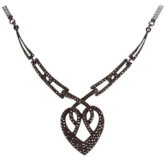 Preload https://img-static.tradesy.com/item/25819391/silver-art-deco-pave-marcasite-heart-necklace-0-1-540-540.jpg