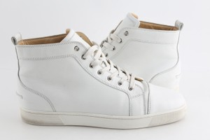 Christian Louboutin White Louis Leather Sneakers Shoes