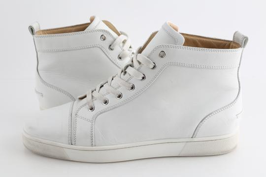 Christian Louboutin White Louis Leather Sneakers Shoes Image 1