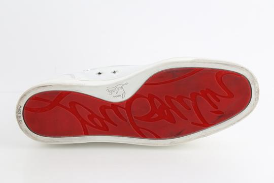 Christian Louboutin White Louis Leather Sneakers Shoes Image 11