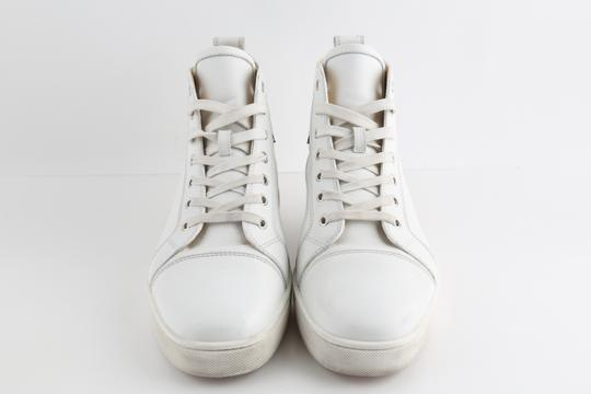 Christian Louboutin White Louis Leather Sneakers Shoes Image 2