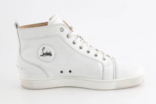 Christian Louboutin White Louis Leather Sneakers Shoes Image 4