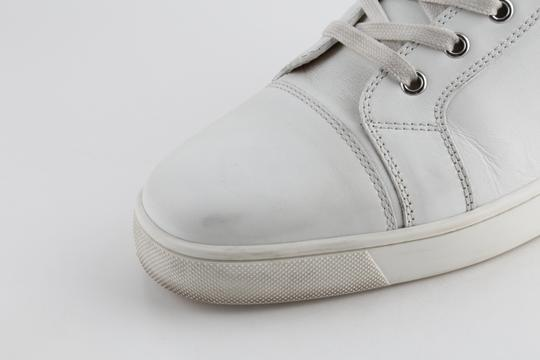 Christian Louboutin White Louis Leather Sneakers Shoes Image 6