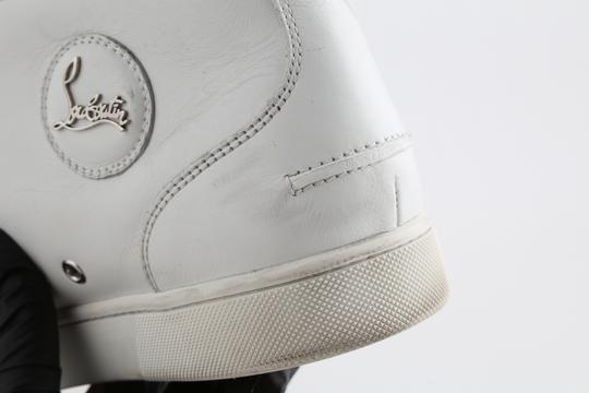 Christian Louboutin White Louis Leather Sneakers Shoes Image 7