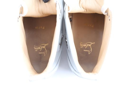 Christian Louboutin White Louis Leather Sneakers Shoes Image 9