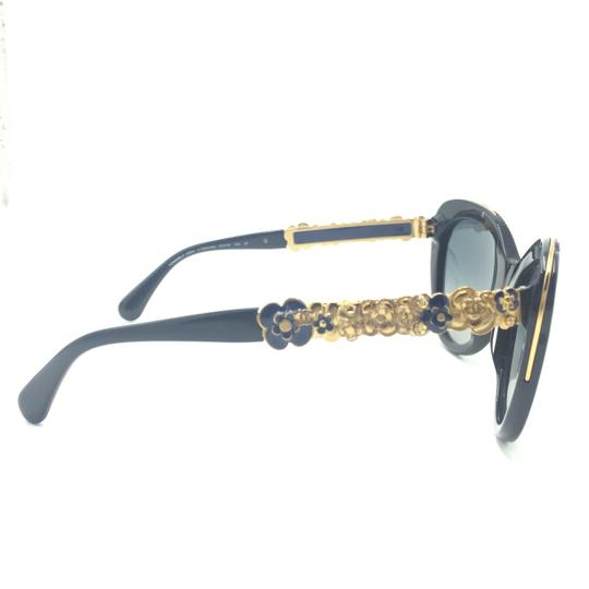 Chanel Butterfly Navy Blooming Flower Polarized Sunglasses 5356 1462/K4 Image 3