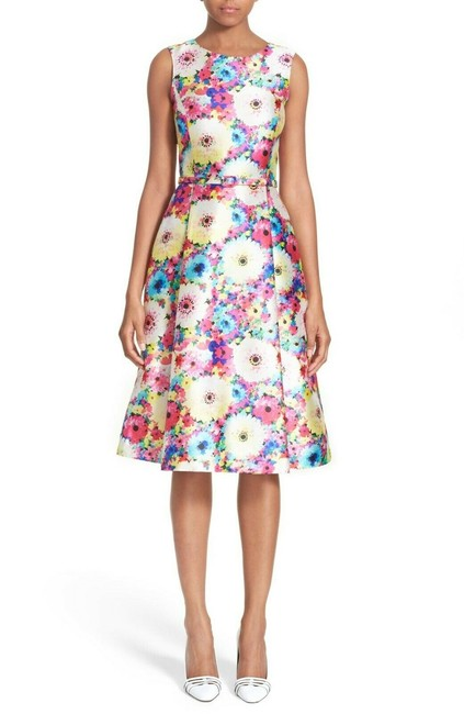 Preload https://img-static.tradesy.com/item/25819545/oscar-de-la-renta-multicolor-azalea-floral-print-fit-and-flare-mid-length-workoffice-dress-size-0-xs-0-0-650-650.jpg