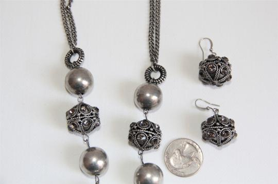 Unbranded Bali Ornate Patinaed Silver Pewter Earrings and Image 10