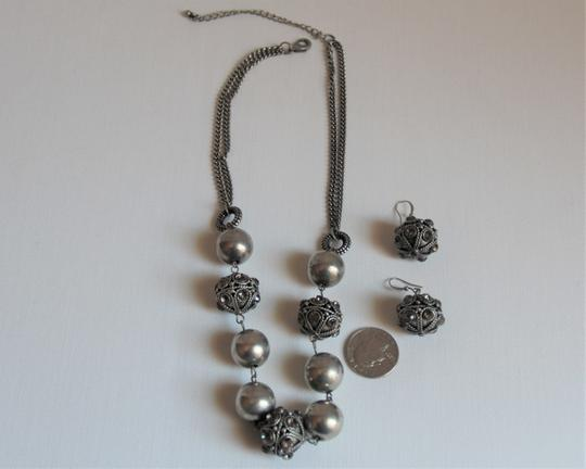 Unbranded Bali Ornate Patinaed Silver Pewter Earrings and Image 4