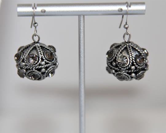 Unbranded Bali Ornate Patinaed Silver Pewter Earrings and Image 6