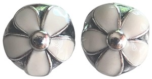 PANDORA Authentic Darling Daisies Clips Charms Set of Two