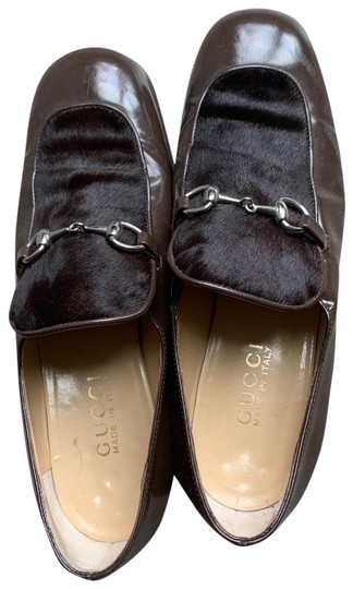 Preload https://img-static.tradesy.com/item/25819644/gucci-brown-olive-leather-pony-hair-loafers-platforms-size-us-8-regular-m-b-0-1-540-540.jpg