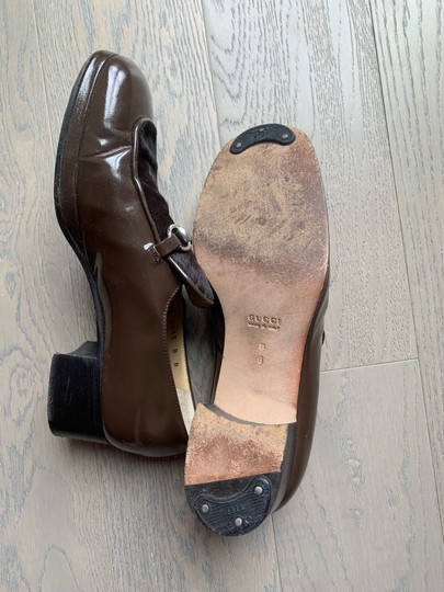 Gucci Brown olive Platforms Image 3