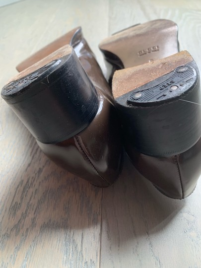 Gucci Brown olive Platforms Image 4