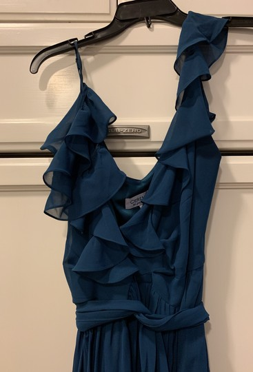 Joanna August Sea Of Love- Blue Chiffon Feminine Bridesmaid/Mob Dress Size 4 (S) Image 2