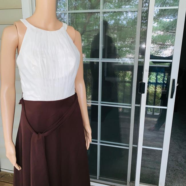 ivory brown Maxi Dress by Mori Lee Image 3