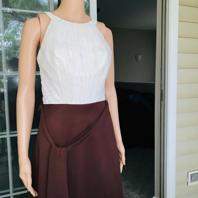 ivory brown Maxi Dress by Mori Lee Image 4