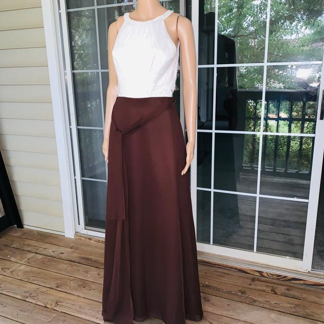 ivory brown Maxi Dress by Mori Lee Image 5