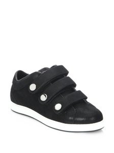 Jimmy Choo Sneakers Velcro Straps Fashion Blogger Black Athletic