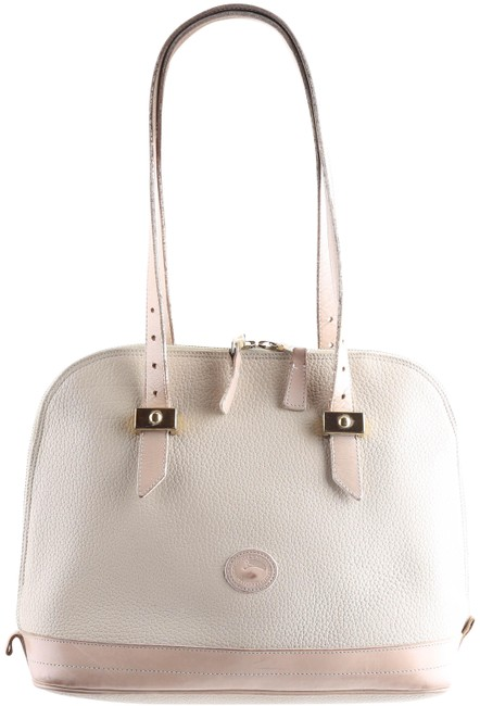 Item - Pebbled Satchel Cream Leather Shoulder Bag