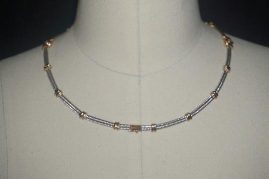 custom mixed gold and diamond cable station collar 34.6Gr Image 1