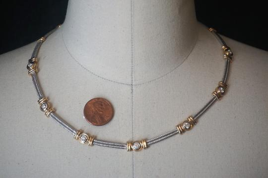 custom mixed gold and diamond cable station collar 34.6Gr Image 2