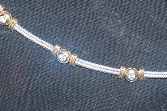 custom mixed gold and diamond cable station collar 34.6Gr Image 4