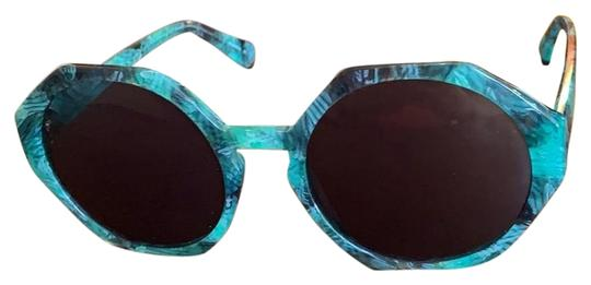 Preload https://img-static.tradesy.com/item/25819827/marbled-lagoonemerald-greencharcoal-frames-charcoal-lense-color-hexagonround-sunglasses-0-1-540-540.jpg