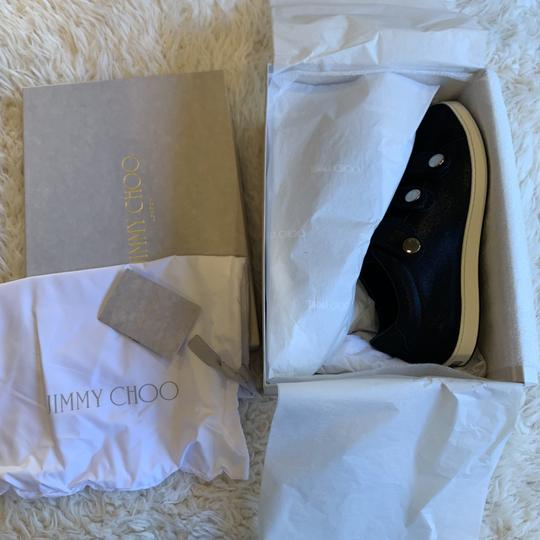 Jimmy Choo Sneakers Velcro Straps Fashion Blogger Black Athletic Image 2