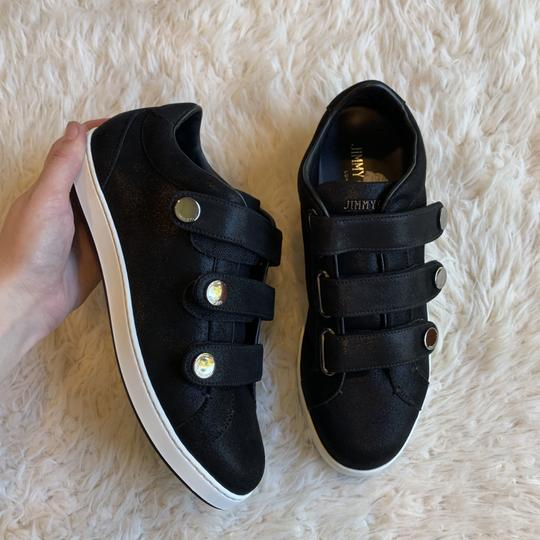 Jimmy Choo Sneakers Velcro Straps Fashion Blogger Black Athletic Image 6