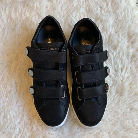 Jimmy Choo Sneakers Velcro Straps Fashion Blogger Black Athletic Image 7
