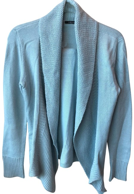Item - Blue Silk and Cashmere Sweater Cardigan Size 4 (S)