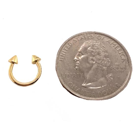 other (2157) 14K Gold Nose Ring Image 2