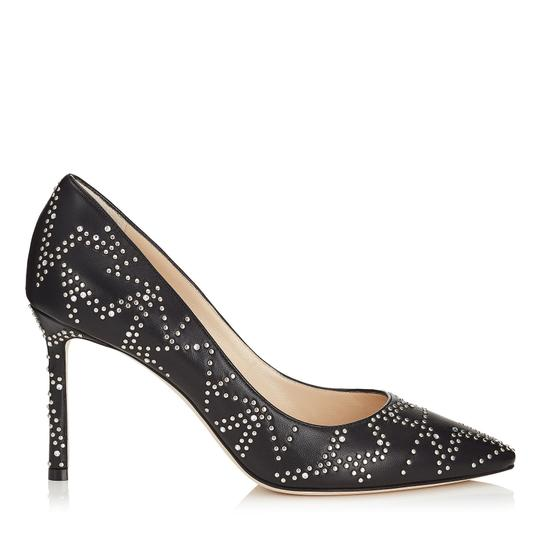Jimmy Choo Studded Romy Classic Blogger Pointed Toe Black Pumps Image 0