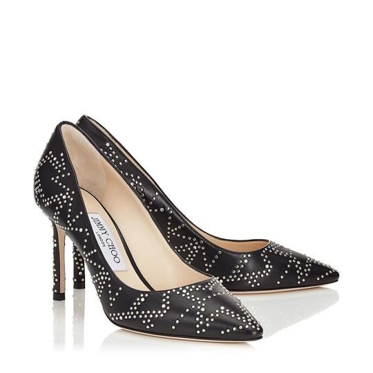Jimmy Choo Studded Romy Classic Blogger Pointed Toe Black Pumps Image 1