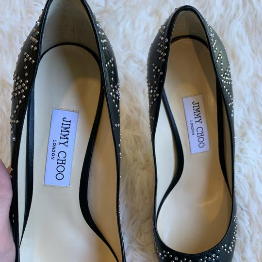 Jimmy Choo Studded Romy Classic Blogger Pointed Toe Black Pumps Image 3