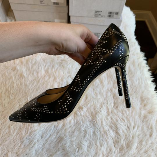 Jimmy Choo Studded Romy Classic Blogger Pointed Toe Black Pumps Image 6