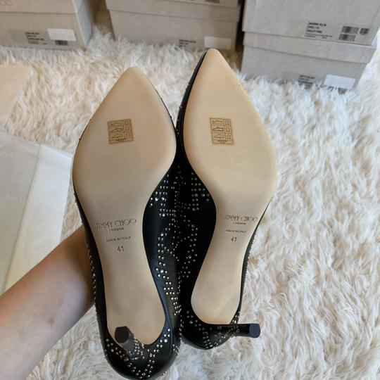 Jimmy Choo Studded Romy Classic Blogger Pointed Toe Black Pumps Image 7