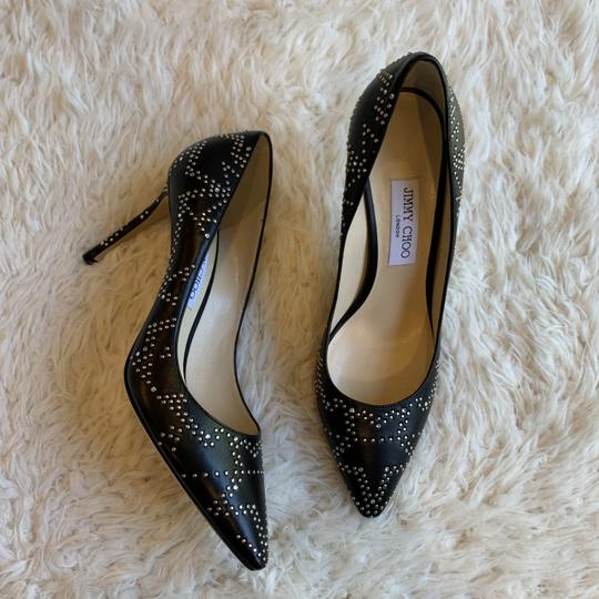 Jimmy Choo Studded Romy Classic Blogger Pointed Toe Black Pumps Image 8