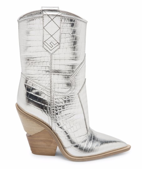 Preload https://img-static.tradesy.com/item/25819890/fendi-silver-cowboy-western-metallic-croc-logo-pointed-toe-heel-bootsbooties-size-eu-355-approx-us-5-0-0-540-540.jpg