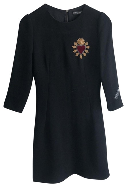Preload https://img-static.tradesy.com/item/25819934/dolce-and-gabbana-dolce-and-gabbana-crepe-and-wool-a-line-embroidered-mid-length-short-casual-dress-0-1-650-650.jpg