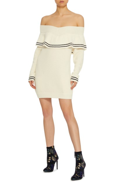 Preload https://img-static.tradesy.com/item/25819942/self-portrait-white-off-shoulder-sweater-short-casual-dress-size-12-l-0-0-650-650.jpg