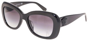 Versace VERSACE 4317 Oval Sunglasses VE4317A Shiny Black Glitter Medusa 4317