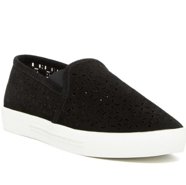 Item - Black and White Huxley Suede Perforated Slip-on Sneakers Size US 8.5 Regular (M, B)